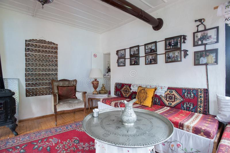 Old Historic Traditional Turkish House Inside City in Eskisehir Turkey 2014. Old Historic Traditional Turkish House Inside City of Eskisehir Turkey 2014 stock photo
