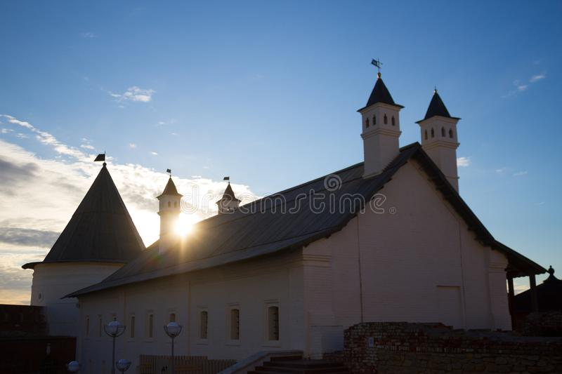 Old historical building. Antient russian style. Kazan city royalty free stock photography