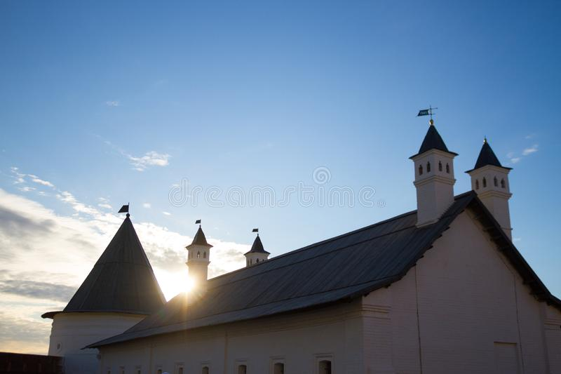 Old historical building. Antient russian style. Kazan city stock image