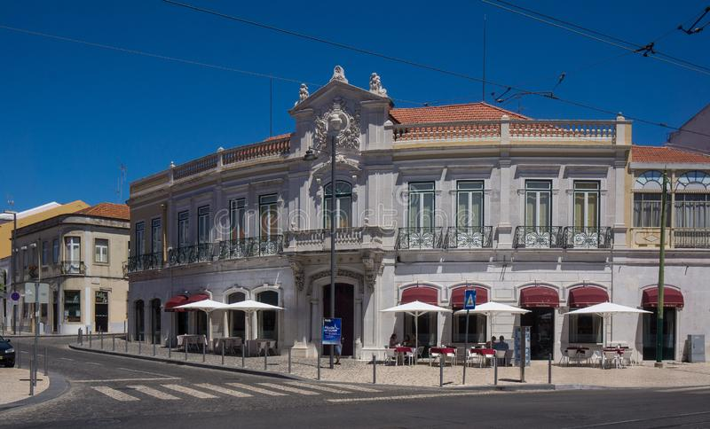 Old historical building in belem royalty free stock photography
