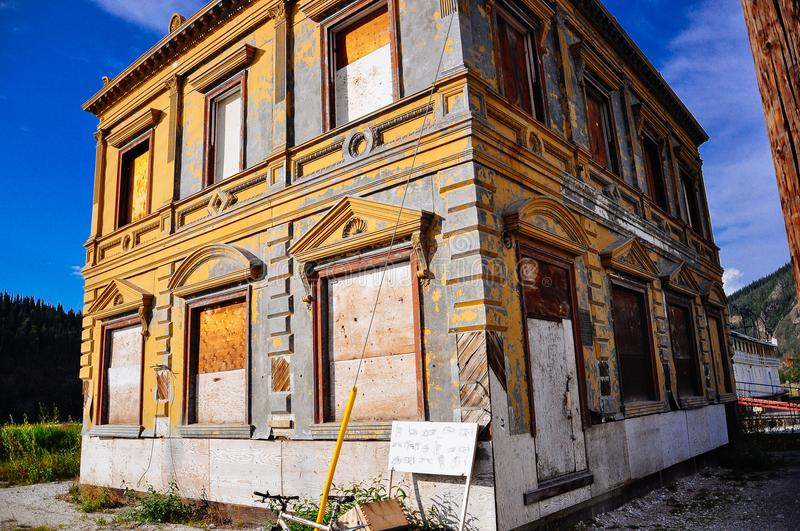 Old historical building in Dawson City, Yukon. Dawson City, Yukon is the heart of the world-famous Klondike Gold Rush royalty free stock images