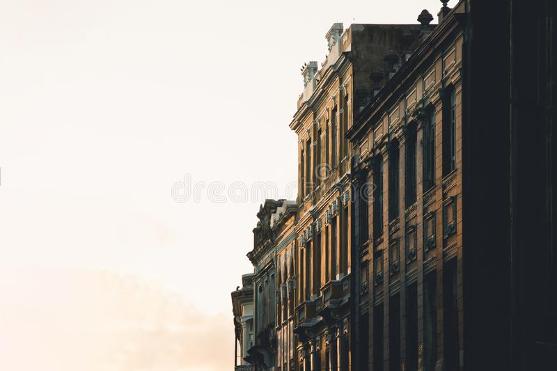 Old and Historical Buildings in Brazil. In Recife City with clear sky stock images