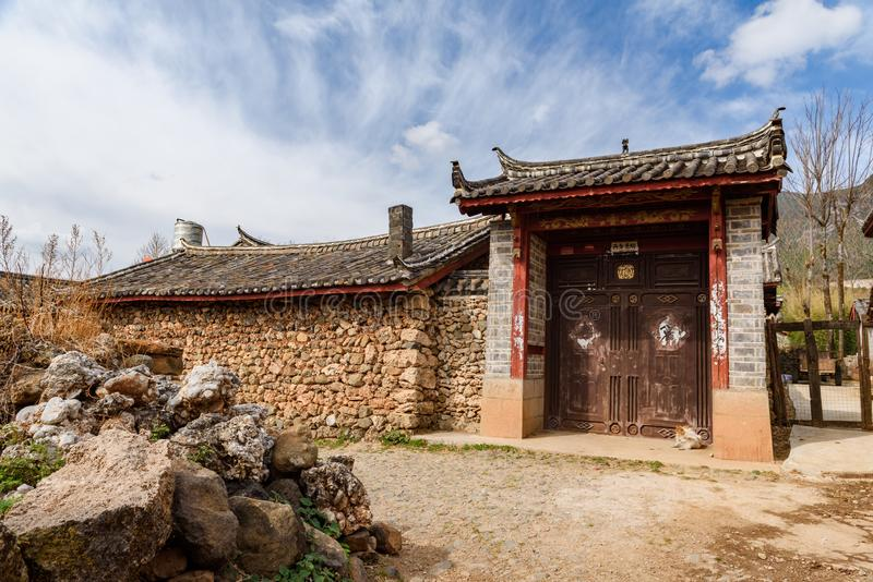 Old historical countryside house, Lijiang, Yunnan, China stock photo
