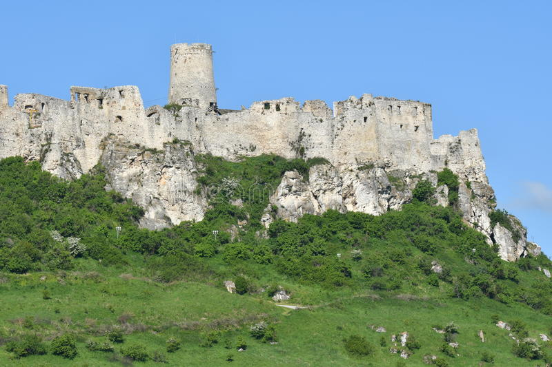 Old historical ruins of castle Spis in Slovakia royalty free stock photos