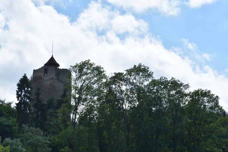 Old historical tower Czchow Poland. Old historical church tower Czchow Poland stock photo