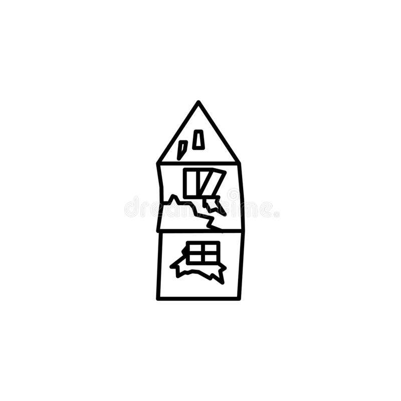 Old home poor people home icon. Element of poverty social life icon for mobile concept and web apps. Thin line Old home poor peopl. E home icon can be used for royalty free illustration