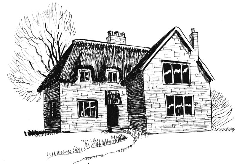 Old home royalty free illustration