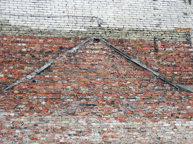 Old home wall done using bricks, Latvia royalty free stock images