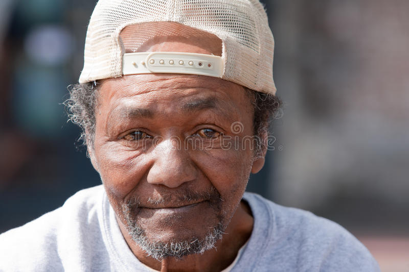 Old Homeless African American Man royalty free stock photography