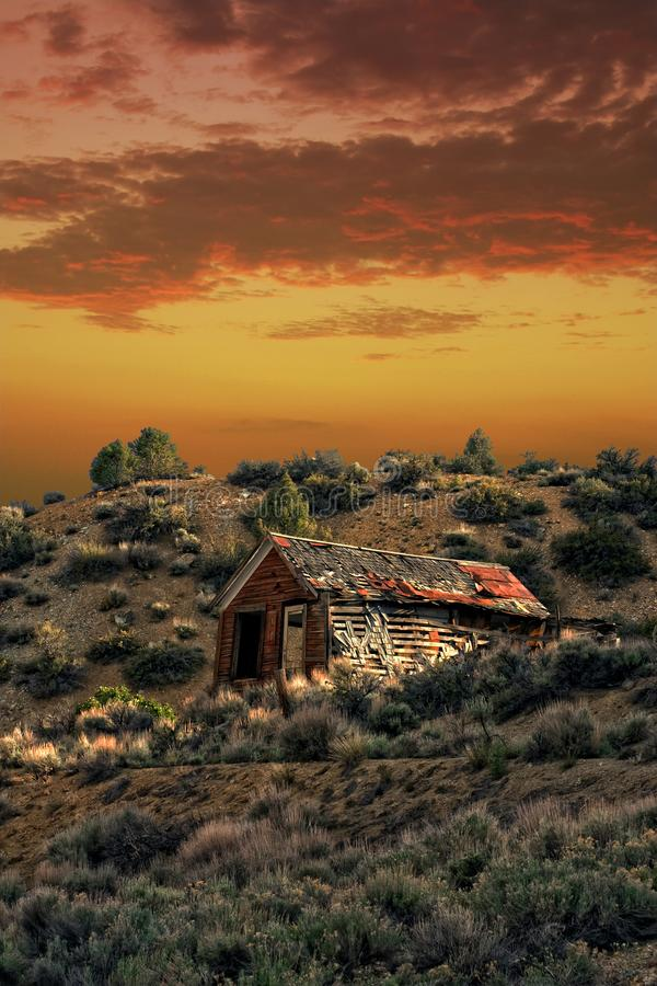 The Old Homestead Abandoned Building royalty free stock photo