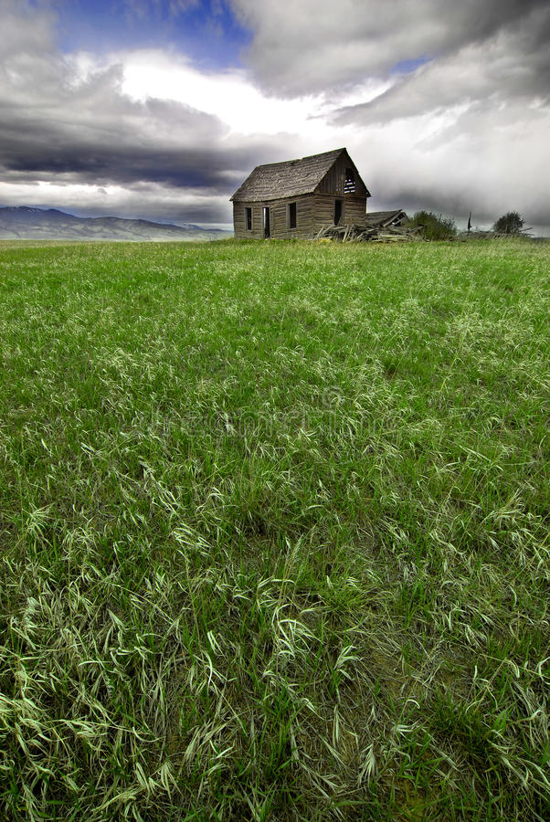 Old Homestead in Field stock image