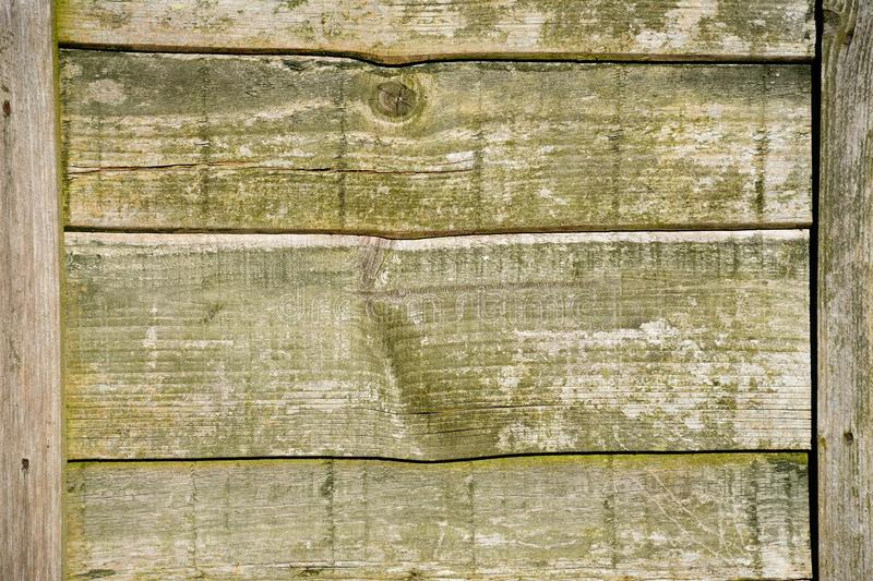 Old wooden fence. Old horizontal fence panel background royalty free stock images