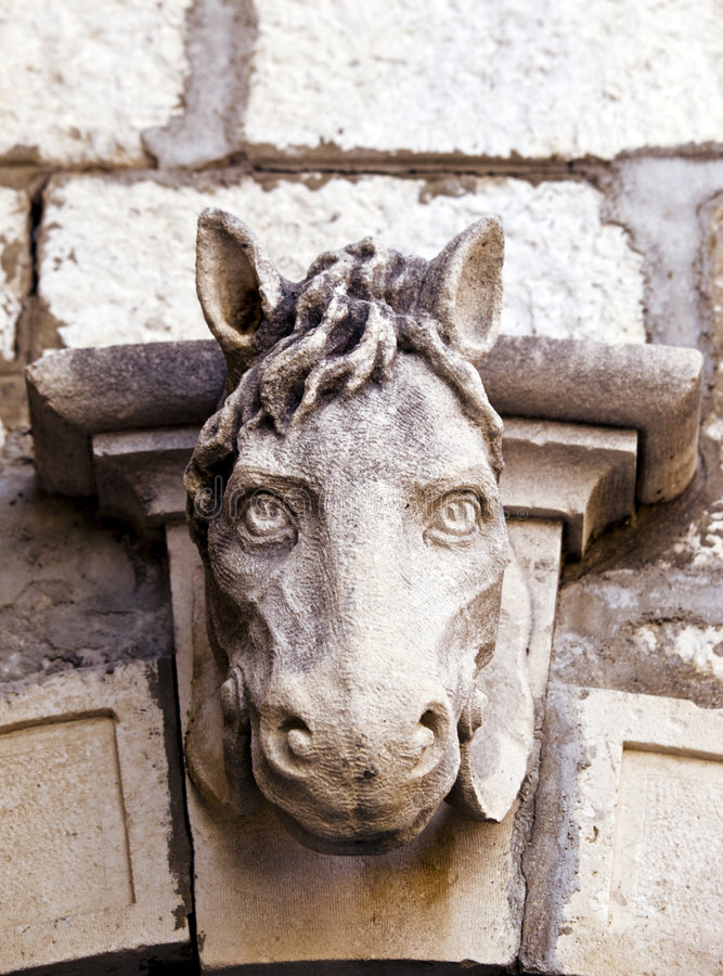 Download Old horse head sculpture stock photo. Image of head, close - 3174998