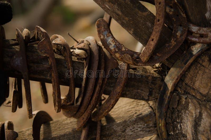 Old horseshoe stock photo