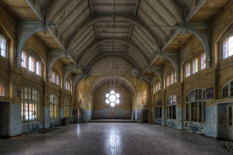 Old hospital in Beelitz royalty free stock photography