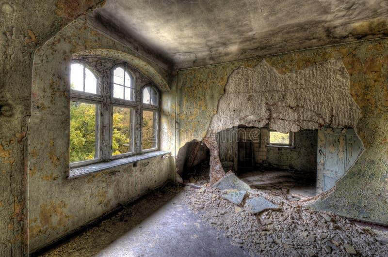 Old hospital in Beelitz royalty free stock photos