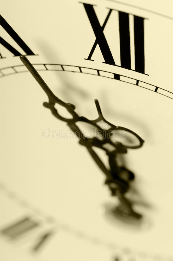 Old Hours With Figured Arrows Royalty Free Stock Photo