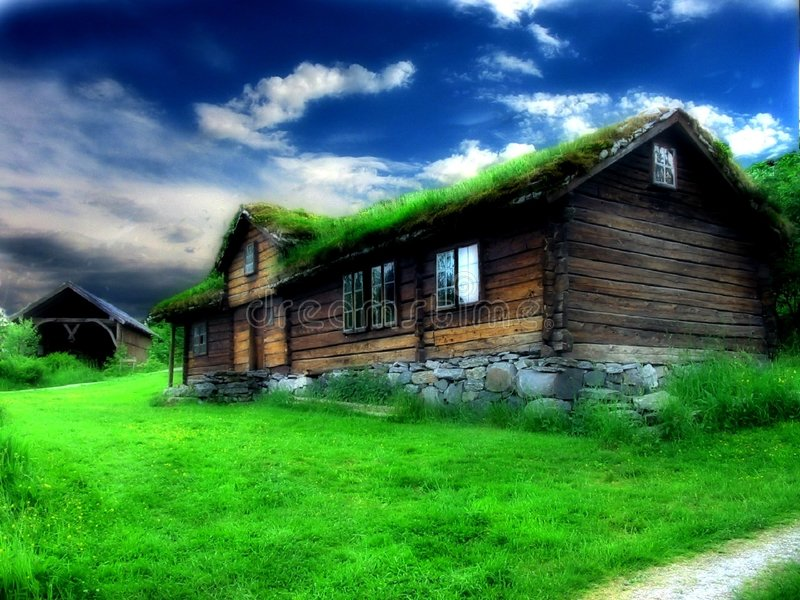 Download Old house stock image. Image of field, colorful, house, magical - 42659