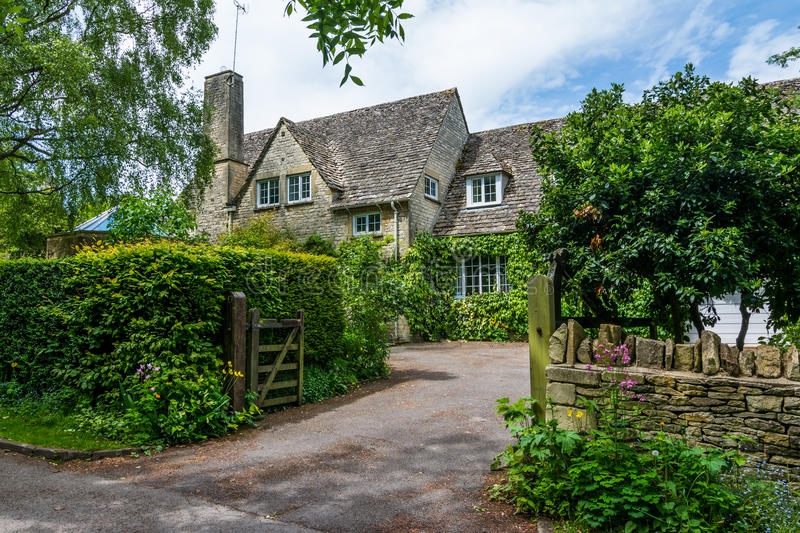 Old house in Burford, England royalty free stock images