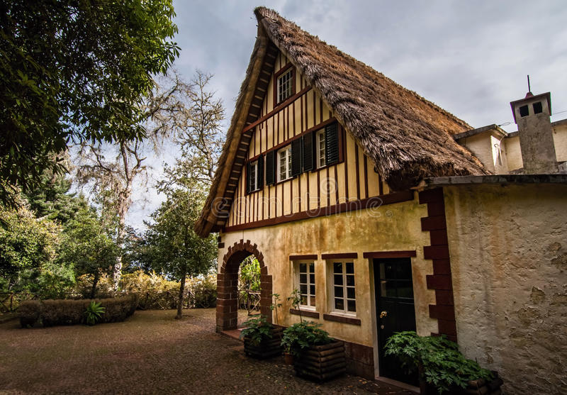 Old house Casa Das Queimadas in Madeira, Portugal royalty free stock photos