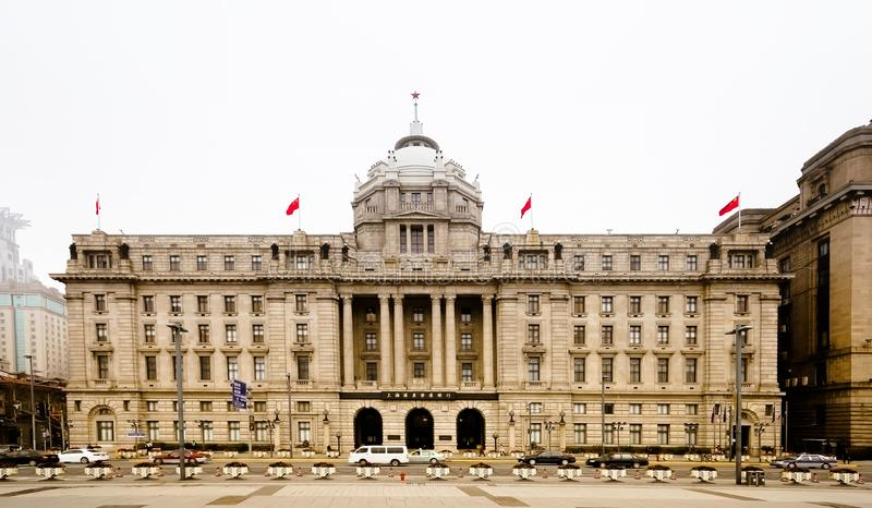 Old house on the edge of the Bund in Shanghai. In Shanghai Bund, stands a concession period of the house, known as the Palais buildings. Shanghai Shanghai have stock photos