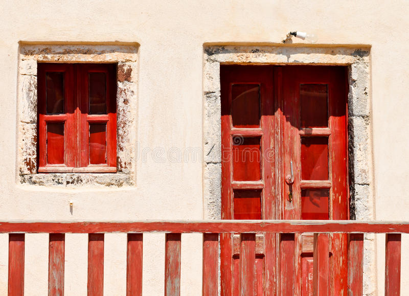 Old house red entrance royalty free stock images