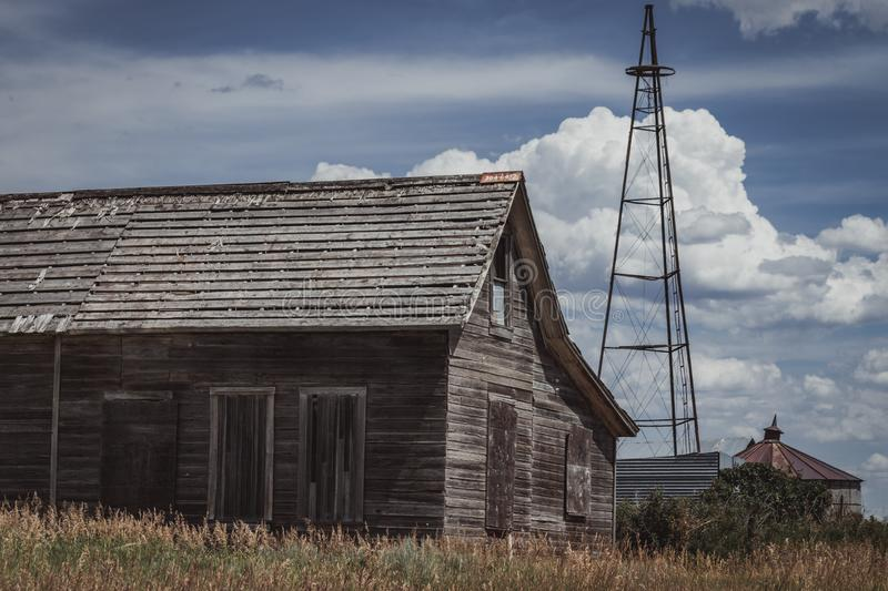 Old  Abandoned Farm House stock images