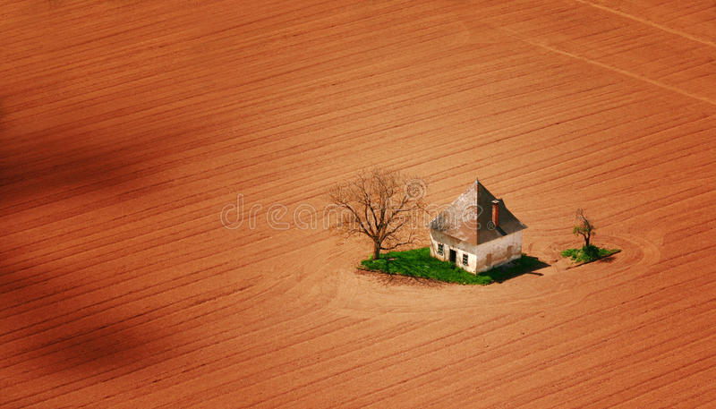 Download Old House On Field Royalty Free Stock Images - Image: 25722659
