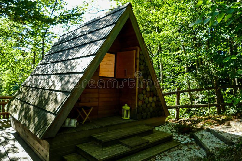 Old house in forest, digital photo picture as a background , taken in bled lake area, slovenia, europe. Old house in forest, beautiful photo digital picture royalty free stock images