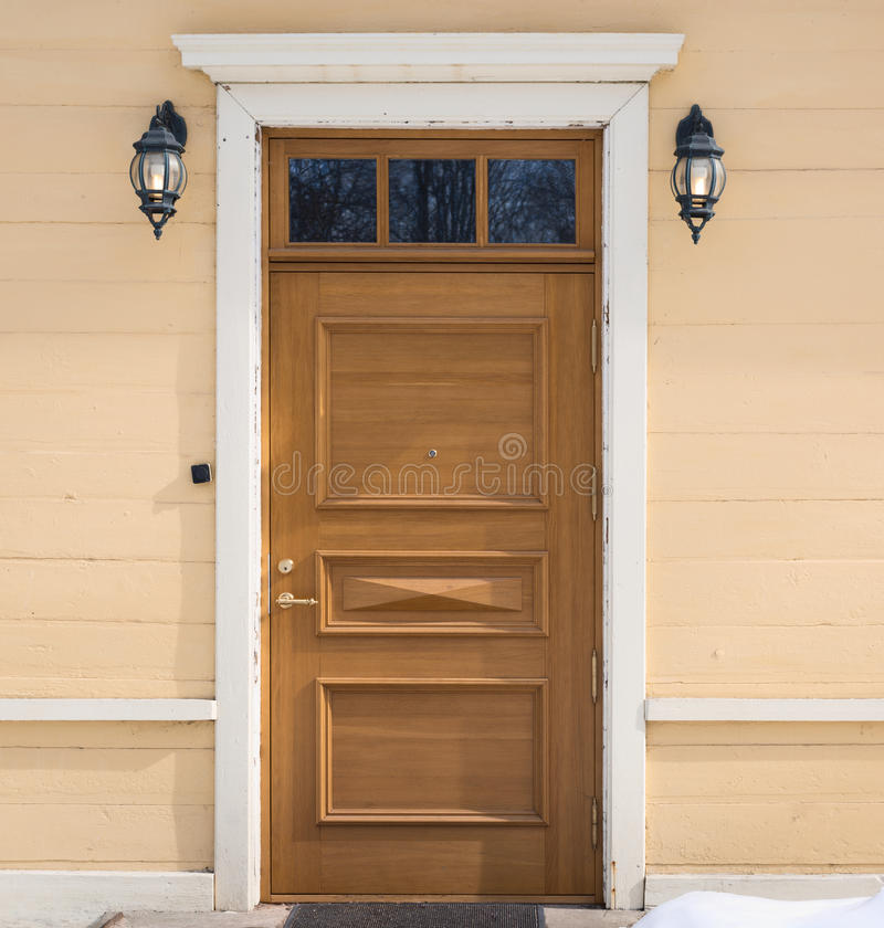 Old house front door composition royalty free stock photo