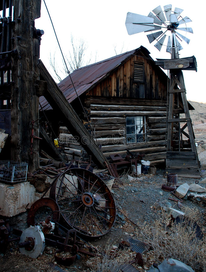 Old house in ghost town (vertical view) royalty free stock photos