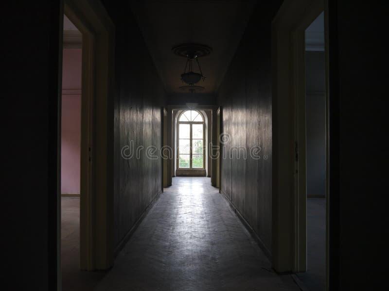 Old House Hallway Towards a Window 03 stock photos