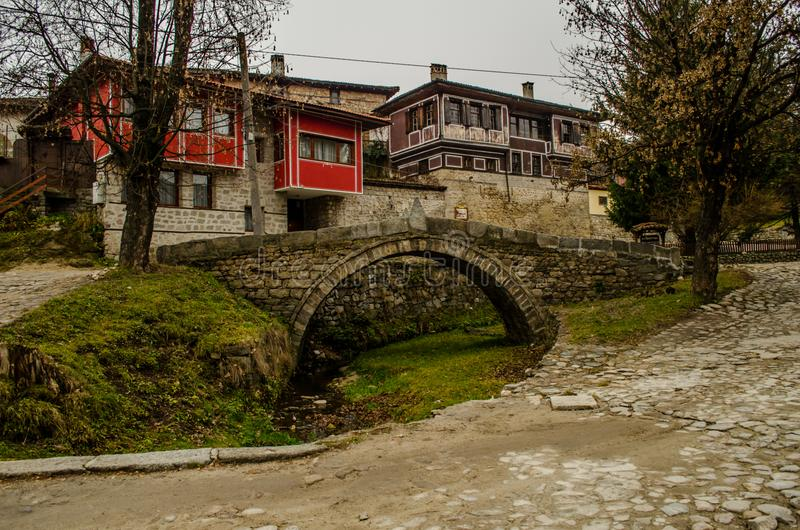 Old House in historical town of Koprivshtitsa royalty free stock image