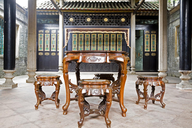 An old house interior. An old house and old furniture royalty free stock photo