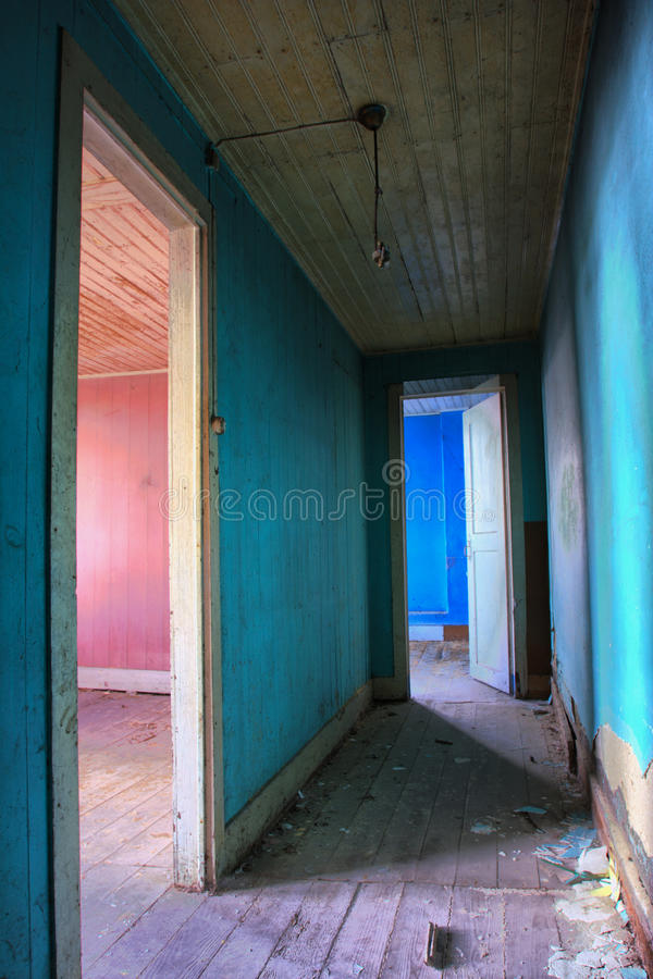 Old house. Interior abandon house stock images