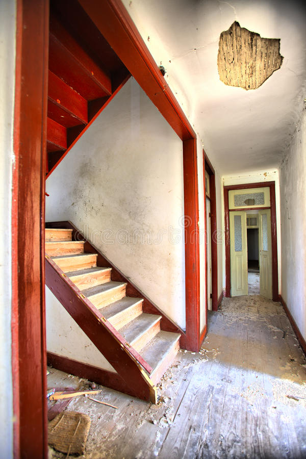 Old house. Interior abandon house royalty free stock images