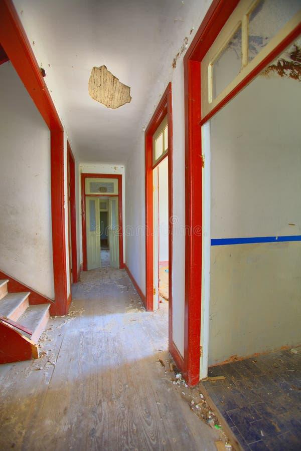 Old house. Interior abandon house stock photo