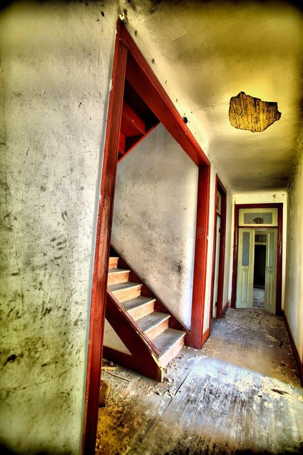 Old house. Interior abandon house royalty free stock photos