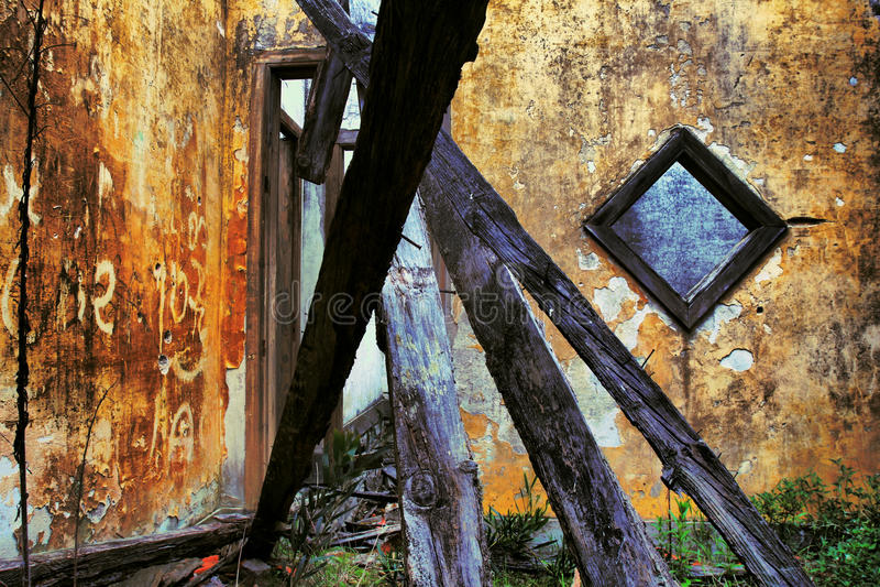 Old house. Interior abandon house stock image