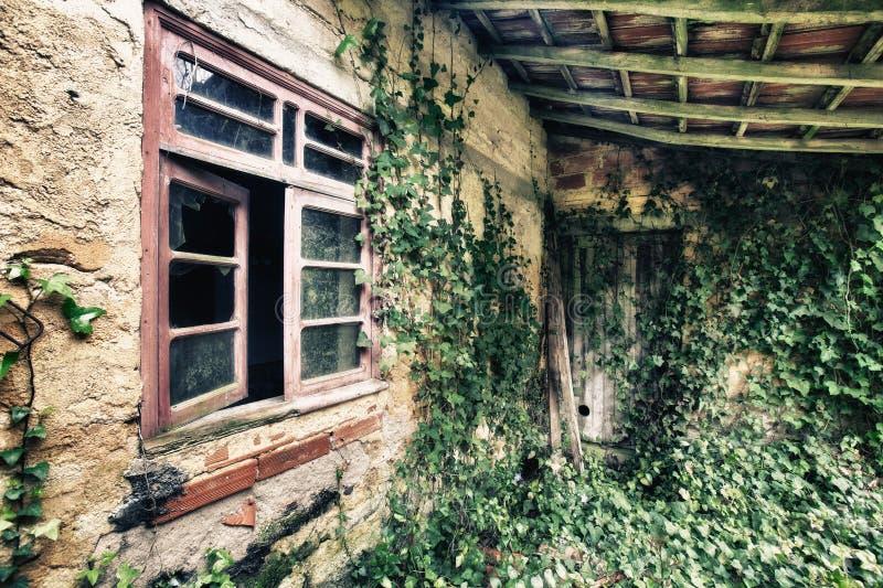Old house. Interior abandon house stock photography