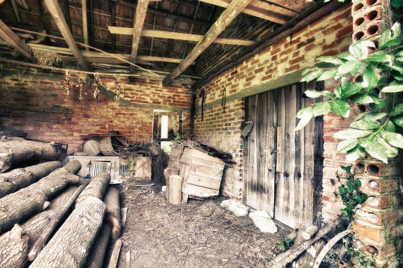 Old house. Interior abandon house royalty free stock photography