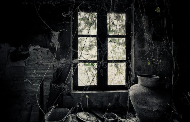 Old house. Interior abandon house royalty free stock image