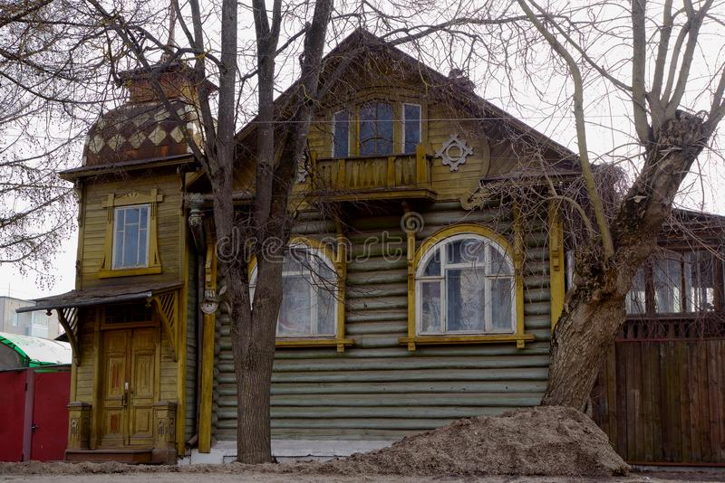Old house in Kimry stock photo