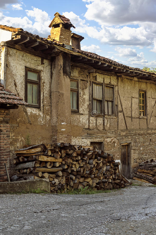 Old house in Kratovo, Macedonia. Old and abandoned house in Kratovo, Macedonia royalty free stock photos
