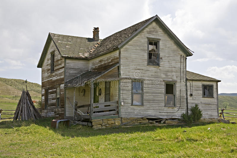 Old house with lap siding stock photography
