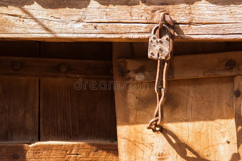 An old house lock royalty free stock photo