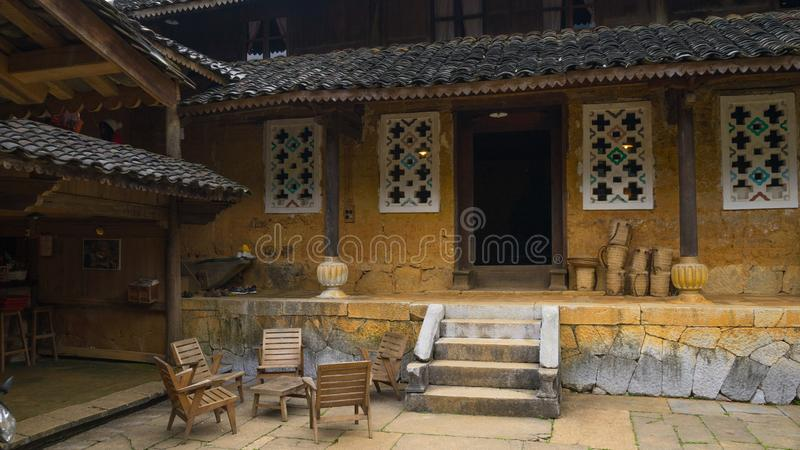 Old house of the ethnic in Ha giang, Vietnam. royalty free stock photography