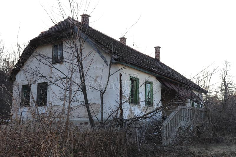 Old house in the mountain in southeastern Europe. This is photo of Old abandoned house in the mountain in southeastern Europe royalty free stock photos