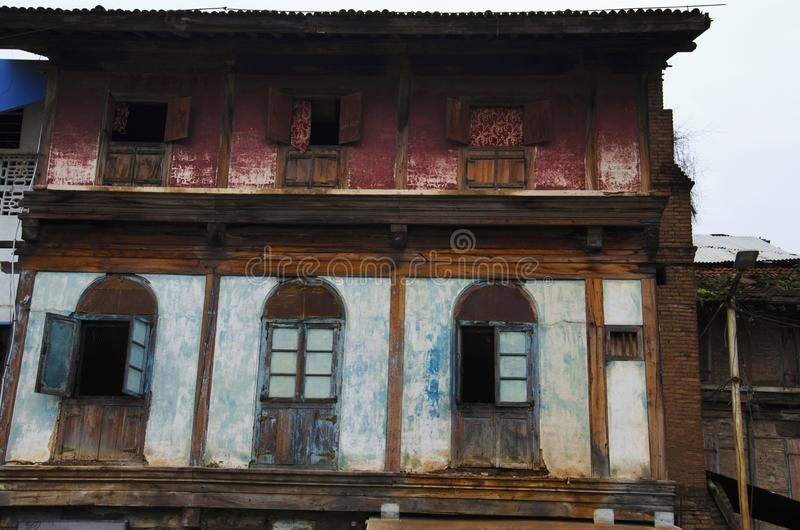 Old house, near Sundar Narayan Mandir, Nashik, Maharashtra, India. Old house, near Sundar Narayan Mandir, Nashik, Maharashtra state of India stock photo