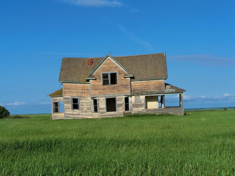 Old House on the Prairie2 royalty free stock images
